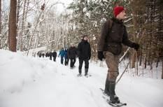 Hiking in snowshoes