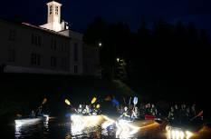 Valguspaadimatkad Õhne jõel, Tõrva pööriööl